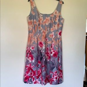 Floral A -Line, sleeveless dress -12